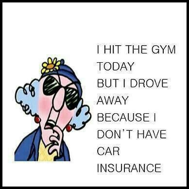 New Year's Resolution to hit the gym? Don't take it too literally. Contact a Trusted Choice Insurance Agent today if you don't have car insurance.