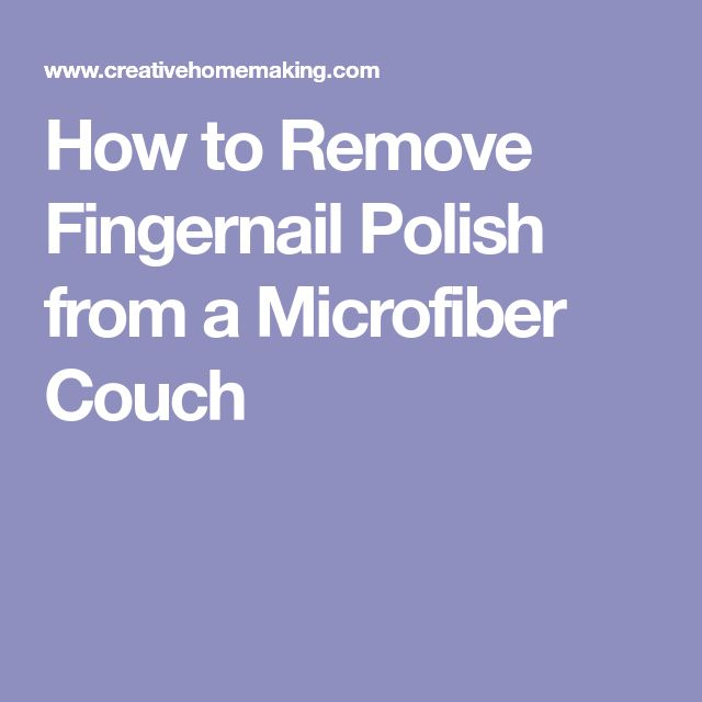 how to get nail polish out of couch
