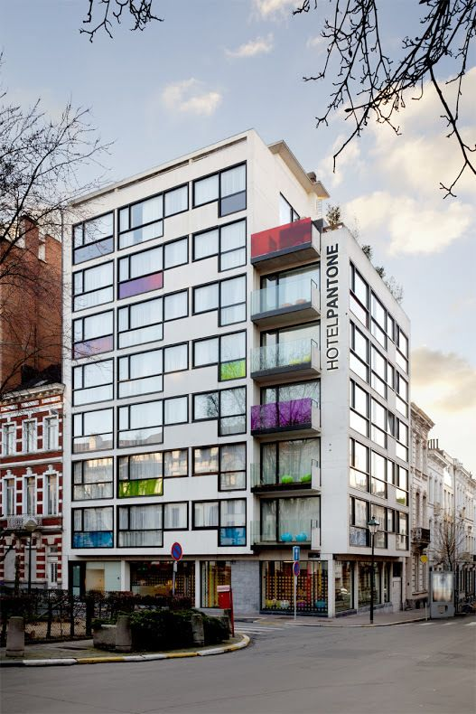 The Pantone Hotel, a seven-story hotel in Brussels with decor inspired by the famous Pantone color system, opened for business in 2010, but these