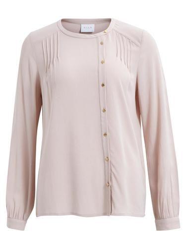 - Stylename: VIFROZA SHIRT - Feminine Bluse - Knopfleiste - Leichtes Material - Lange Ärmel mit Knopfmanschetten - Länge: 66 cm in Größe M - Armlänge: 66 cm - Unser Model ist 178 cm groß und trägt Größe M