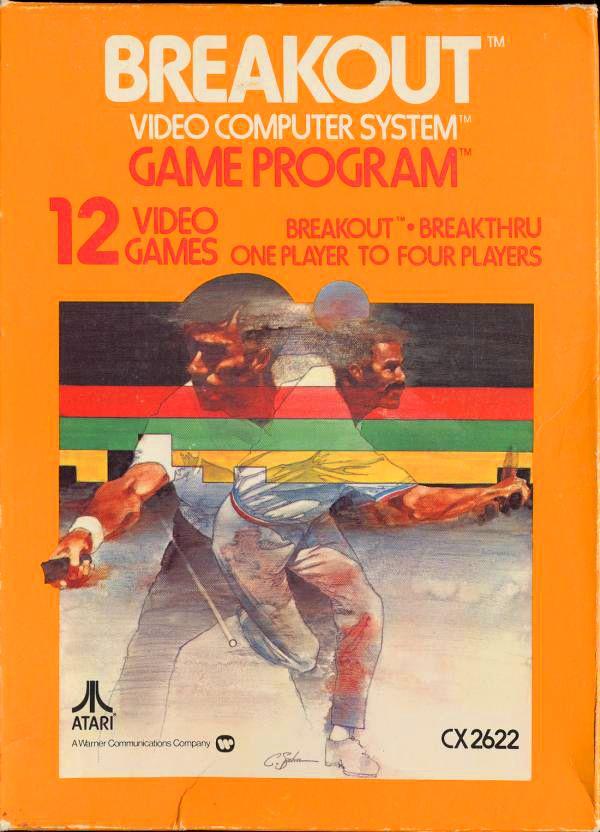 """Breakout"" | Vintage Atari VCS Game Cartridge Box Art | #Atari #2600 #VideoGame"