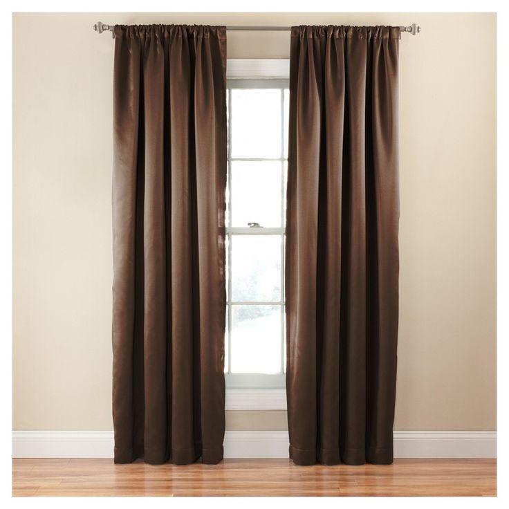 """Tricia Room Darkening Curtain Brown (52""""x63"""") - Eclipse"""