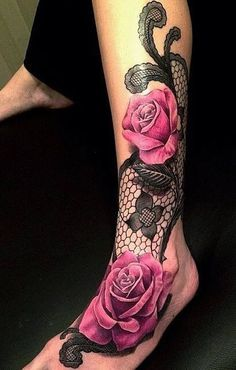 Lace Rose Tattoo