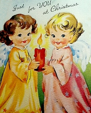 two angels with candle