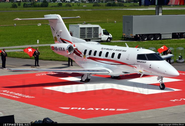 At a ceremony on Aug 1, also Swiss National Day, Pilatus officially rolled out its first jet engine powered aircraft-the PC-24 business jet prototype.