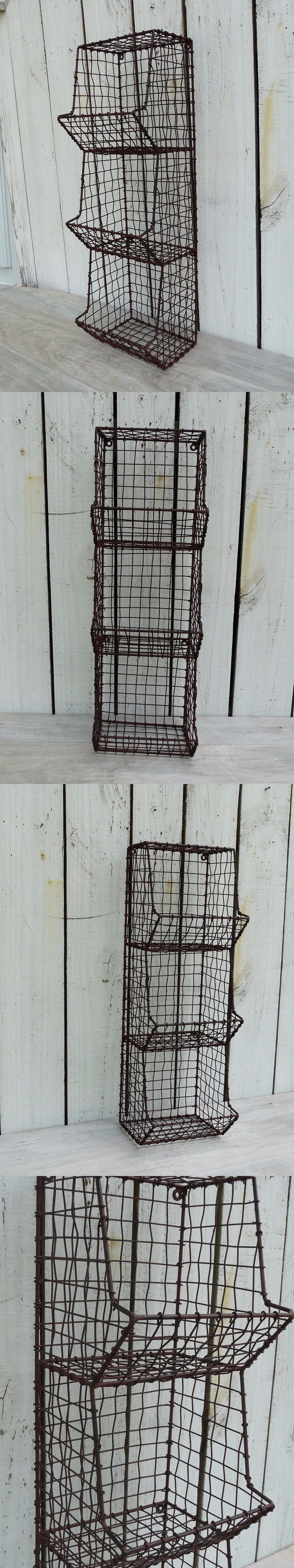 Baskets 125072: General Store Metal Wall Bin Organizer Storage Primitive Country Home Wall Decor -> BUY IT NOW ONLY: $49.95 on eBay!