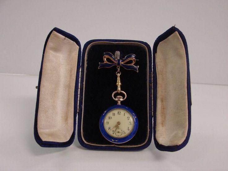 Swiss Sterling Fauvette Guilloche Pendant Watch 0.800 Silver Grouse K&L c1900  | eBay