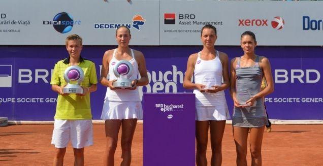 2015 Bucharest Open WTA - Oksana Kalashnikova and Demi Schuurs, doubles champions. Andreea Mitu and Patricia Tig – finalists - July 24, 2015 - via brdbucharestopen.ro