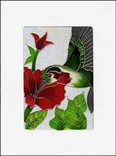 Le style Magenta: Carte Vitrail / Stained Glass Card