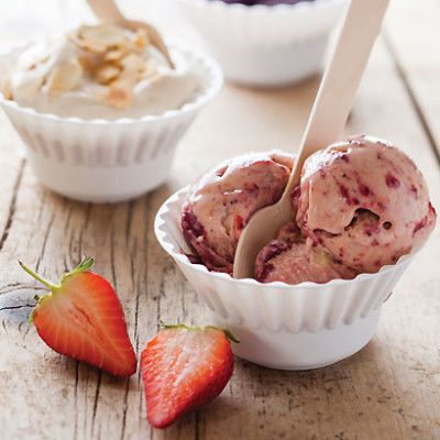 Taste Mag | Roast strawberry coconut ice cream @ http://taste.co.za/recipes/roast-strawberry-coconut-ice-cream/