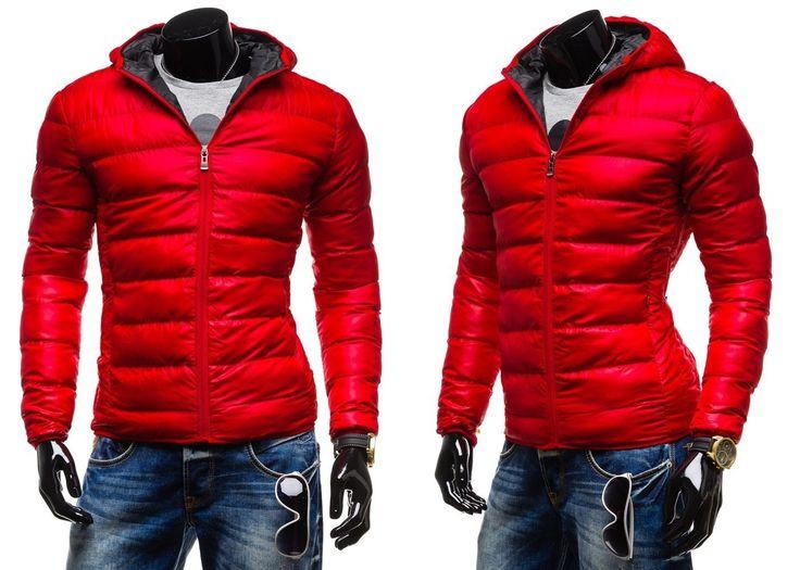 KAMLIN 4001 - CZERWONY CZERWONY | On \ Kurtki męskie \ Kurtki zimowe | Denley - Odzieżowy Sklep internetowy | Odzież | Ubrania | Płaszcze | Kurtki