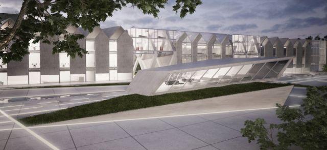 rearangement of the Targ Węglowy zone in Gdańsk. Concept won 2014 contest organized by Politechnika and ASP in Gdańsk;  project: arch. E.Kowalik, M.Golińska, K. Huszcza