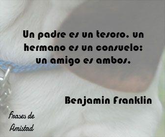 Frases de amistad de Benjamin Franklin
