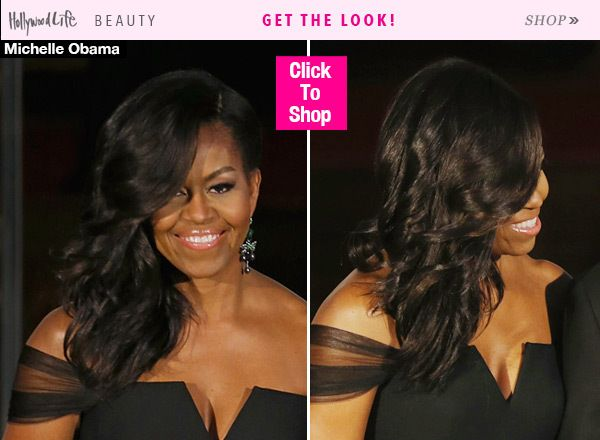 Michelle Obama Wears Gorgeous New Hairstyle — Curled SidePonytail