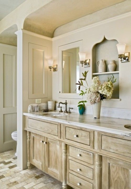 This Bathroom Is Traditional With A Little Twist The