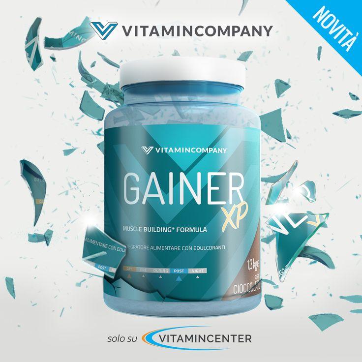 New Entry #Vitamincompany >> GAINER XP << Integratore a base di #CARBOIDRATI, #Proteine, L-Glutammina di qualità Kyowa®, Vit. B6, Taurina e Bromelina! Un'esplosione di gustoso cioccolato da bere per i tuoi muscoli 😋💪 Disponibile su #VitaminCenter!
