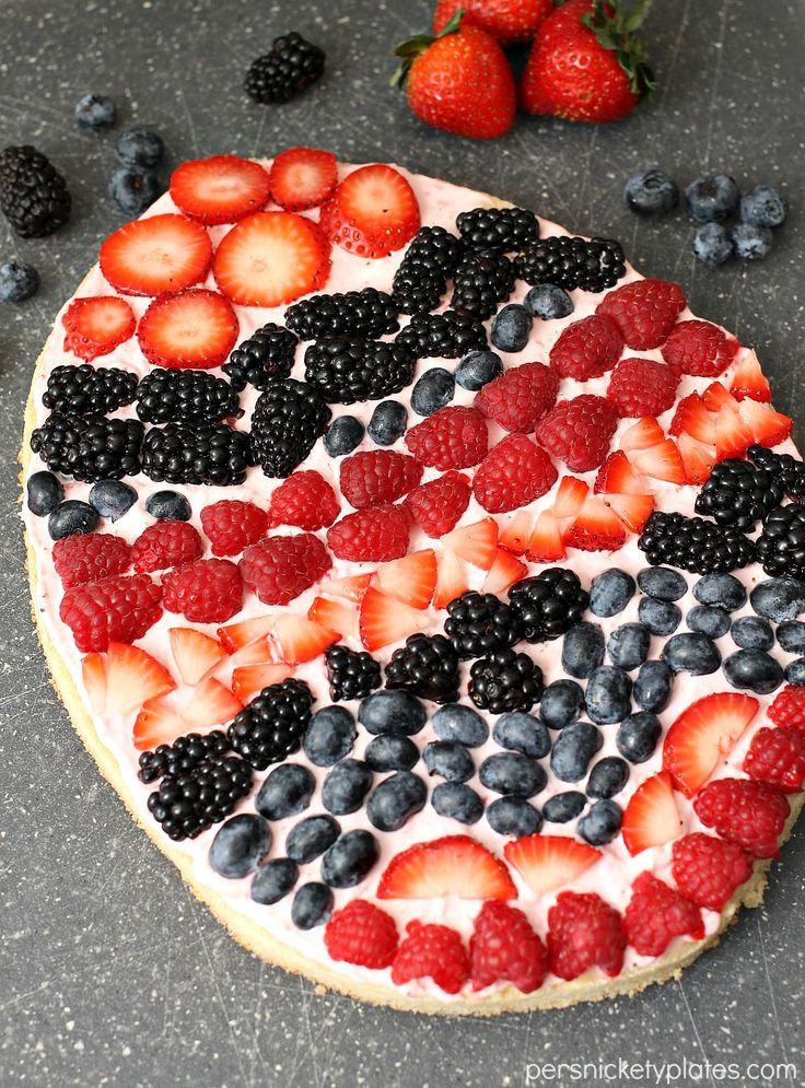 Easter Egg Fruit Pizza - Delish.com More More