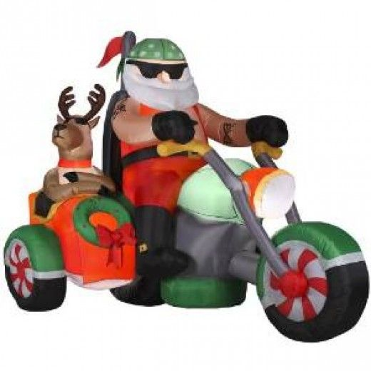 Cheap Inflatable Yard Decorations: This Santa Looks Cool In 10 Fun Inflatable Santa Claus
