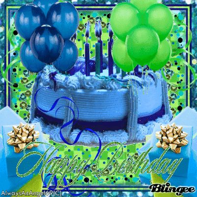 Happy Birthday Images For Her Happy Birthday Blue Cake
