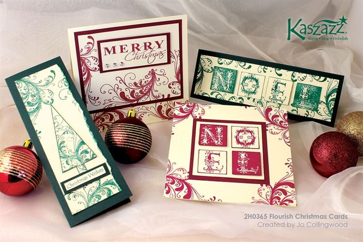 2H0365 Flourish Christmas Cards