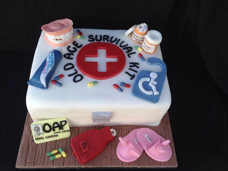 Kit de survie des retraités – gâteau d'anniversaire. Dentiers Fondant, Lapin Fondant …   – Kuchen/Torten