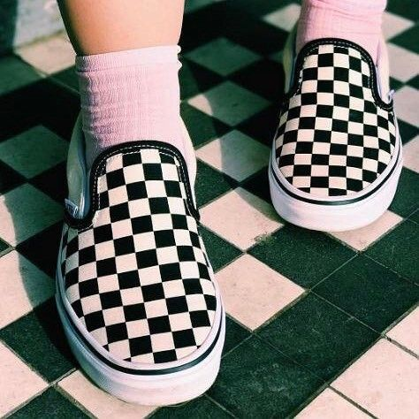 RG: @tigersash feat our @vans Classic Slip On Shoes in Black White Check. #Shop straight from our bio. #offthewall #vans #regram #officeloves
