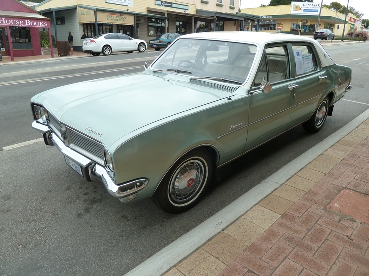 """GM Holden Kingswood """"HG"""" (1971) Mine had a dark green body and a white roof. The car I owned when we got married in 1973."""