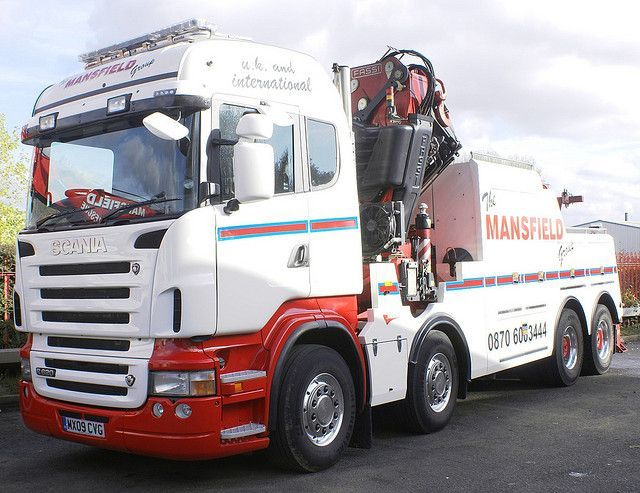 Mansfield Group Scania R620 V8 Hi Line With Knuckle Boom Crane Also Picture