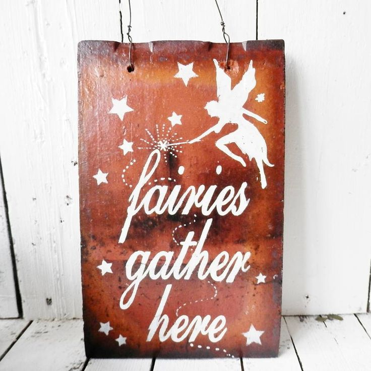 fairy garden reclaimed tile sign by potting shed designs | notonthehighstreet.com