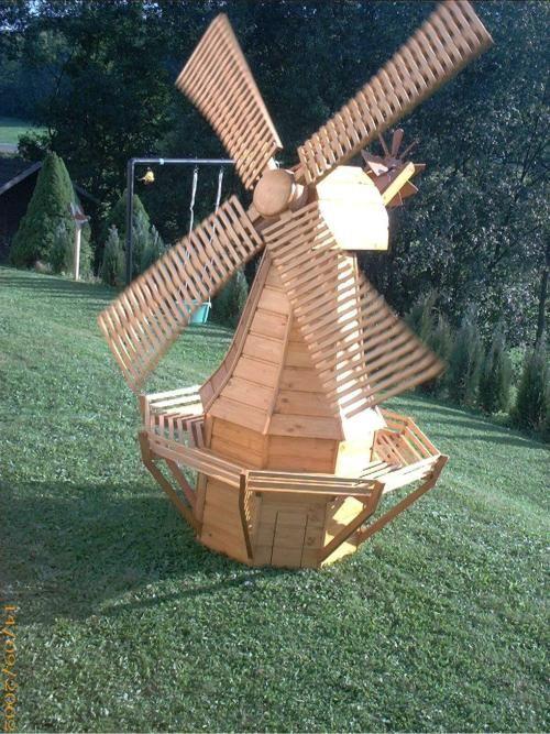 Gartenwindmühle