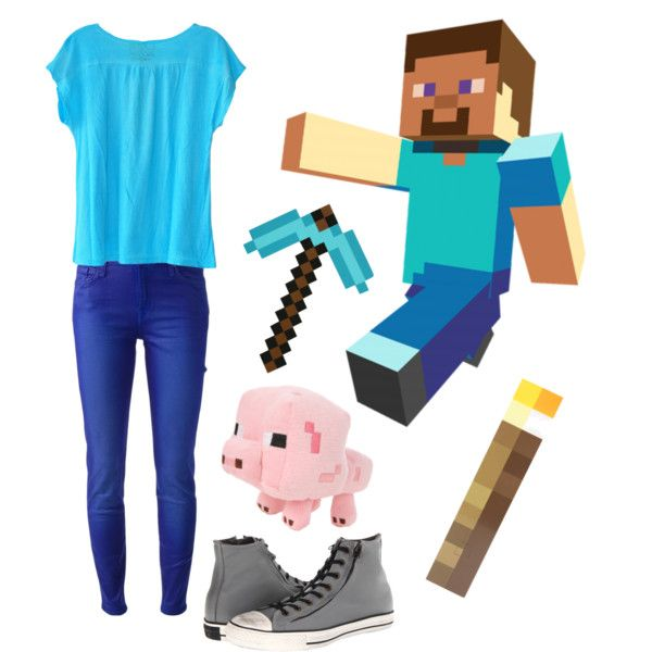 """Minecraft steve!"" by stephihunt on Polyvore"