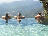 To Swimming in the Infinity Swimming Pool of Wildernest Resort, It is located at 2500 ft above sea level overlooking the Swapnagandha valley; Swapnagandha Valley is located on the border of Maharashtra, Karnataka and Goa overlooking Three Magnificent Waterfalls at a distance and is surrounded 20 kms on either side by dense forest. Swapnagandha Valley is one of the few actively protected and managed eco-sensitive areas in India. http://www.hemtravels.com/around-goa.php