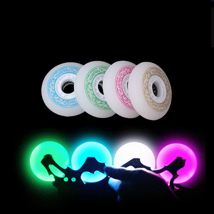 4 pcs Roller Skates Wheel 88A 72 76 80mm Skate Slalom/Braking Roller Skating Wheel LED Light Sliding Skates Wheels