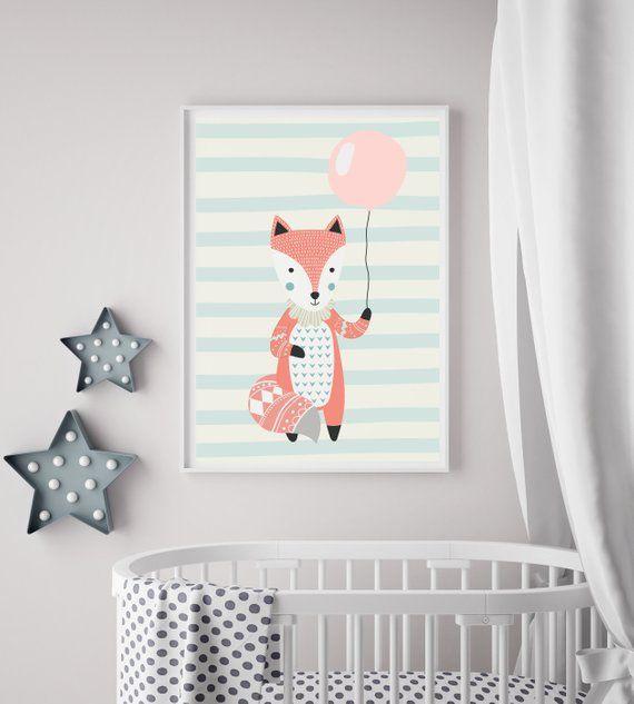 Kinderzimmer Poster Fuchs Nursery Poster Fox Kinderzimmer
