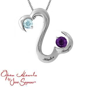 82 best open hearts collection images on pinterest open heart personalize your open hearts by jane seymour couples necklace aloadofball Gallery
