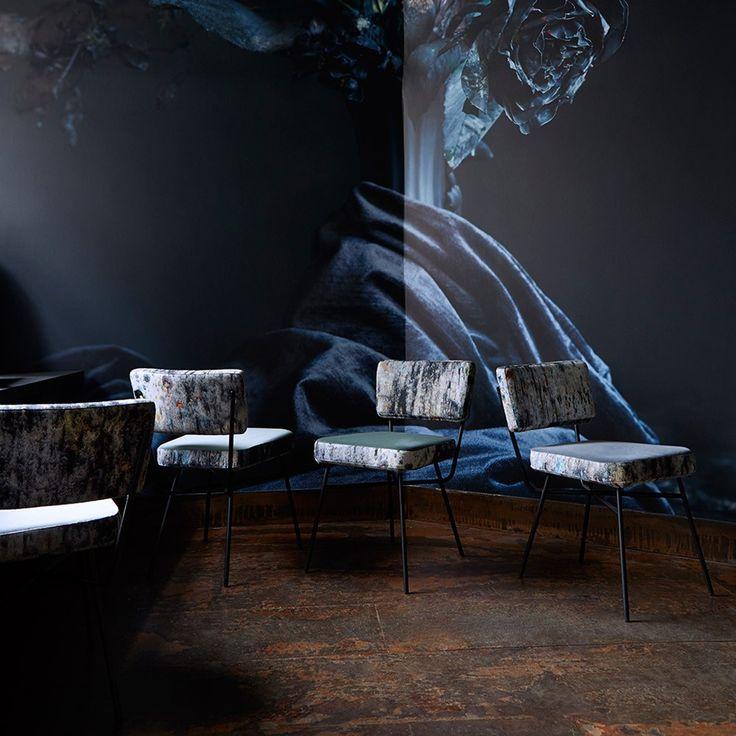 Elettra Dining Chairs in Martyn Thompson Studio Drippy, Set of 4