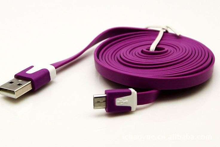 Flat charging - data sync cable for iPhone 3G / 4s / 5s / 5c & Universal android devices Various colors.