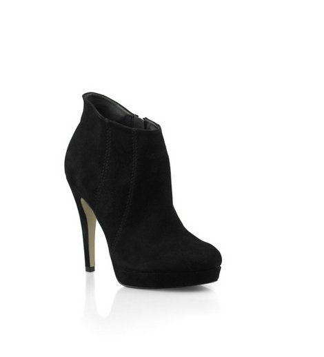Bonbons - Alisa Black Suede Ankle Boot  Suede platform ankle boot with side stitch detail.    Heel: 12cm.    Leather upper, synthetic lining & sole.    Was:$129.95 Now:$64.95