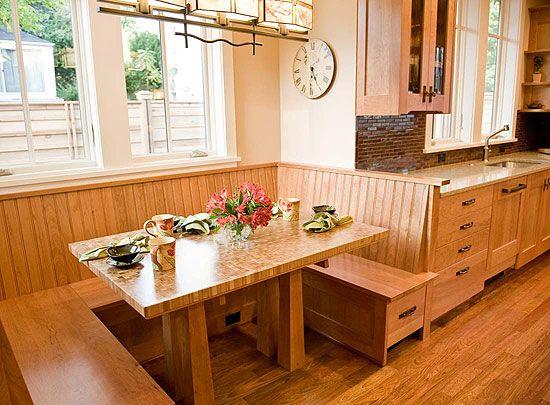 Best Nooks Images On Pinterest Kitchen Ideas Kitchen Nook - Craftsman bungalow kitchen breakfast nooks