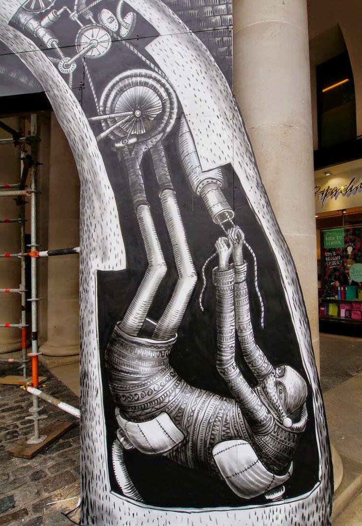Phlegm installation For Royal Opera House – London, UK - detail