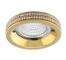 Oczko LAMPA sufitowa EVA R NC1519R-CH Azzardo podtynkowa OPRAWA wpust glamor z kryształkami crystal chrom