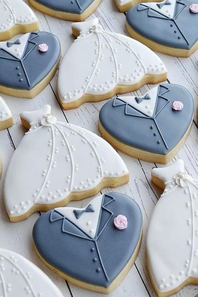 Kekse in taubenblau