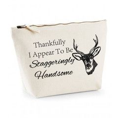 Thankfully I Appear To Be Staggeringly Handsome Mens Wash Bag