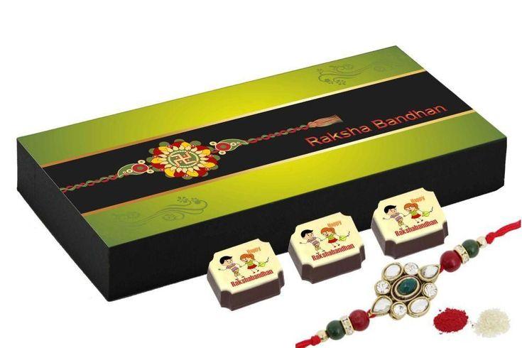 Rakhi gift for brother - 18 Chocolate Gift Box - Rakhi gift for sister
