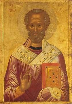 St. Nicholas' icon, given by Serbian Orthodox Tsar, 1327
