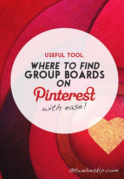 Find Group Boards on Pinterest with Pin Groupie @ twelveskip.com