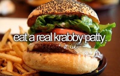 preferably served by spongebob himself