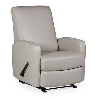 Room-Saver Vinyl Recliner with Smooth Back