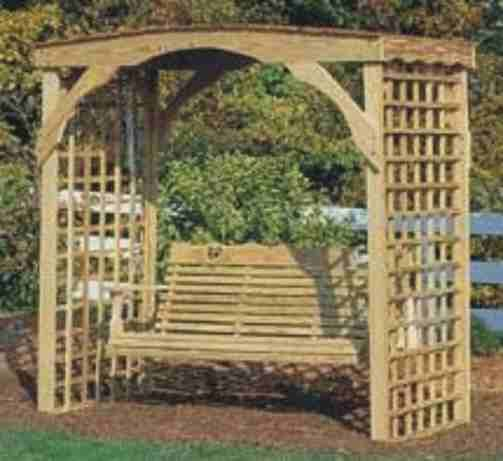 59 best images about primitive outdoor furniture to make on pinterest gardens arbors and - Arbor bench plans set ...