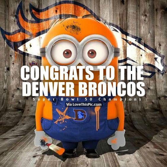 Congrats To The Denver Broncos, Super Bowl 50 Champions Pictures ...
